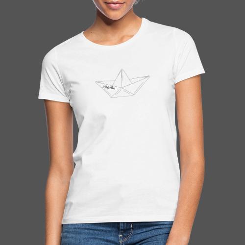 Papierboot Sailing Benko Papierschiff Faltboot - Frauen T-Shirt