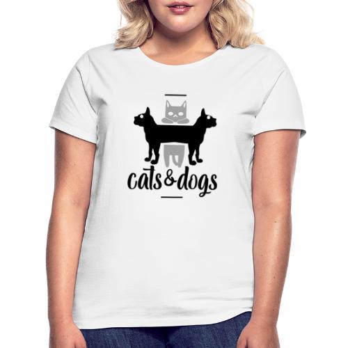 Chats et chiens - Chat et chien - T-shirt Femme
