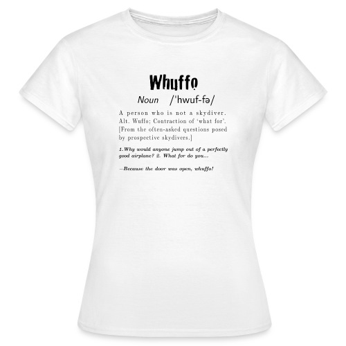Whuffo black - Naisten t-paita