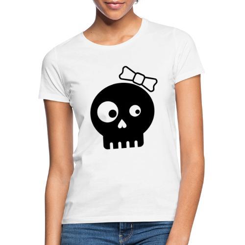 totenkopf bones minimalistic kids girl - Frauen T-Shirt