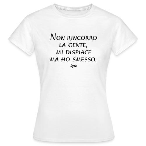 non rincorro_black - Maglietta da donna