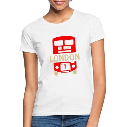 London Bus Roter Doppeldecker London Fan Souvenir - Frauen T-Shirt
