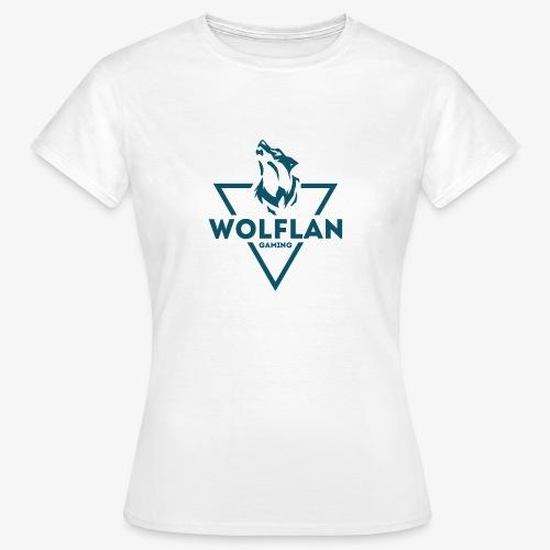 WolfLAN Logo Gray/Blue - Women's T-Shirt
