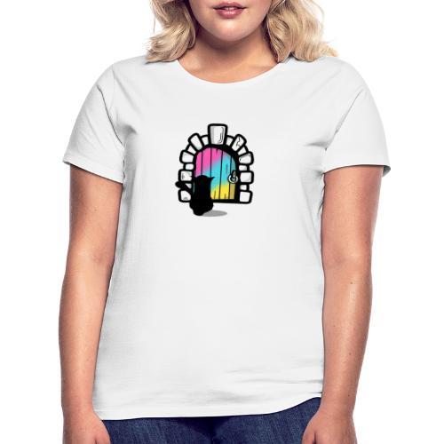 Schwarze Katze 2020 (Tür) - Frauen T-Shirt