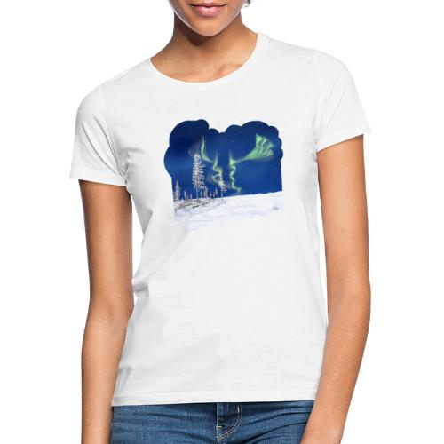 hiver avec des aurores boréales - T-shirt Femme