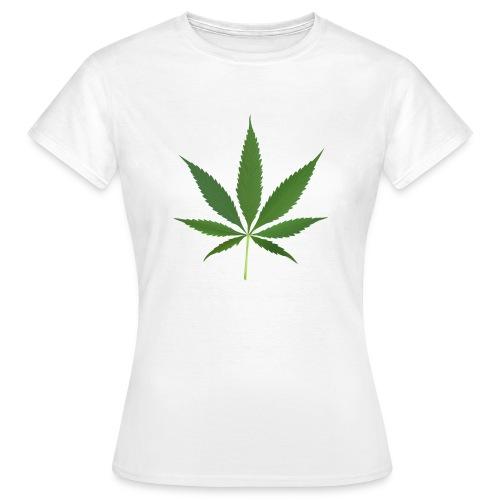 2000px-Cannabis_leaf_2 - Dame-T-shirt