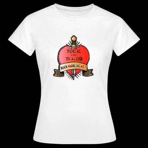 Rock and Blog Heart Logo - Camiseta mujer