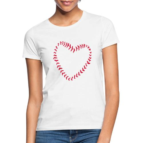 2581172 1029128891 Baseball Heart Of Seams - Women's T-Shirt
