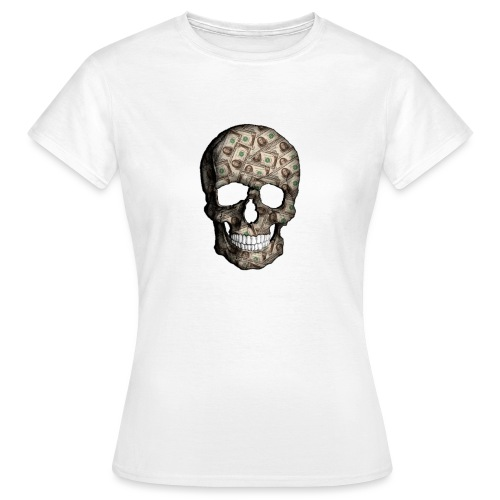 Skull Money Black - Camiseta mujer