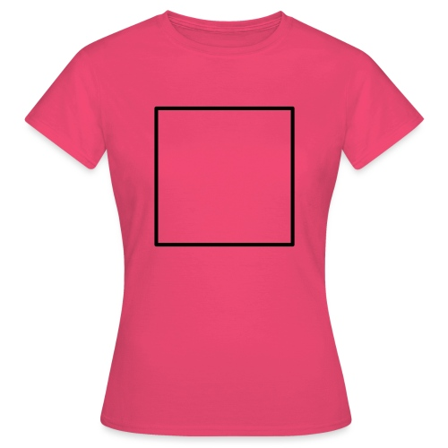 Square t shirt black - Vrouwen T-shirt