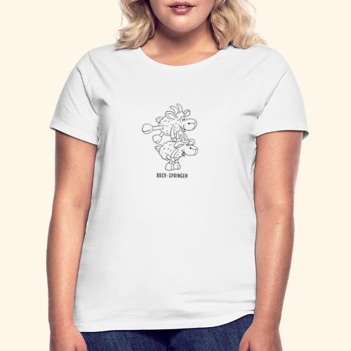 Schafbock: Bock springen - schwarz - Frauen T-Shirt