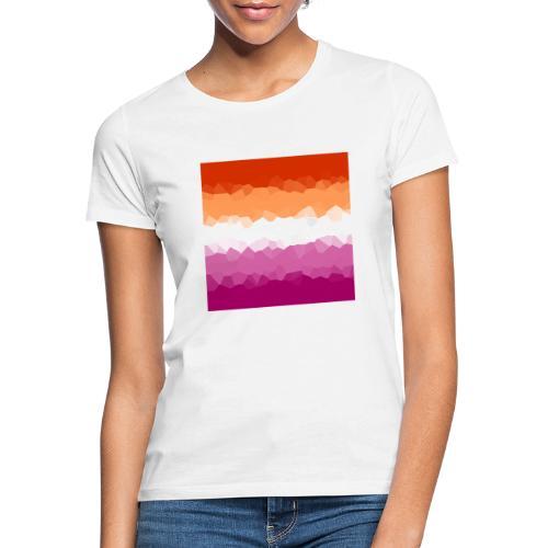Lesben Flagge Mosaik - Frauen T-Shirt