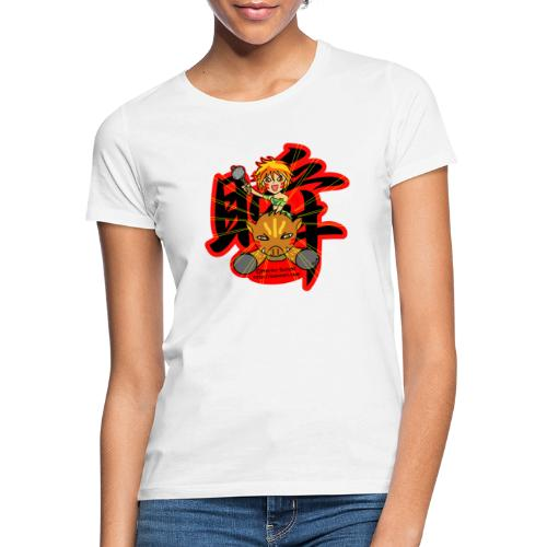 Wild girl and pig - Women's T-Shirt
