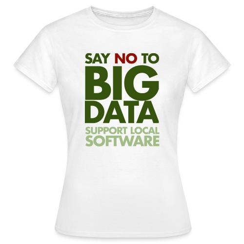 Say No to Big Data - Women's T-Shirt