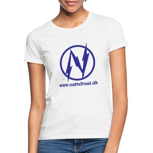 Nattefrost Logo. - Dame-T-shirt