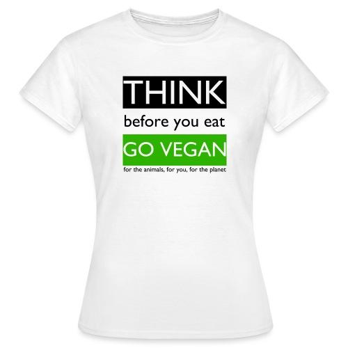 go vegan - Maglietta da donna