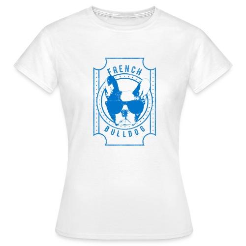 Franse Bulldog Blauw - Vrouwen T-shirt