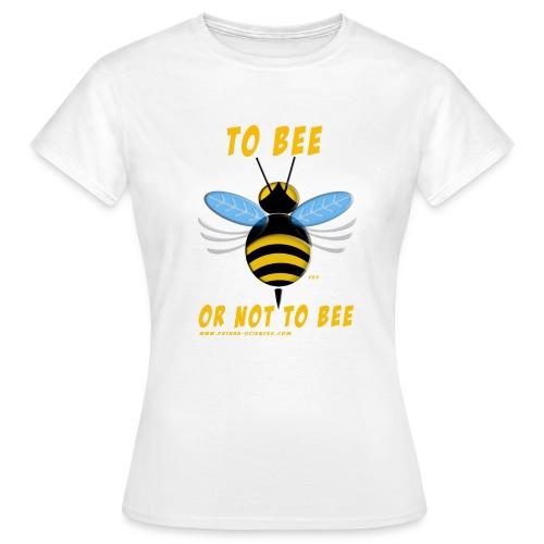 bee texte jaune - T-shirt Femme
