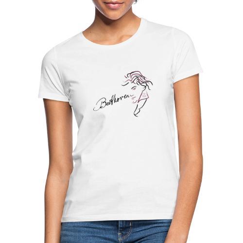 Beethoven (aubergine/schwarz) - Frauen T-Shirt