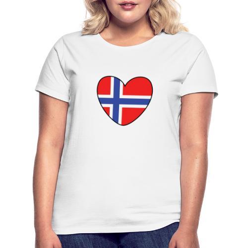 Norges-hjerte - T-skjorte for kvinner