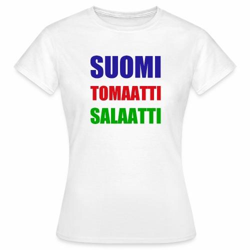 SUOMI SALAATTI tomater - T-skjorte for kvinner