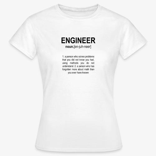 Engineer Def. 2 Black - T-shirt Femme