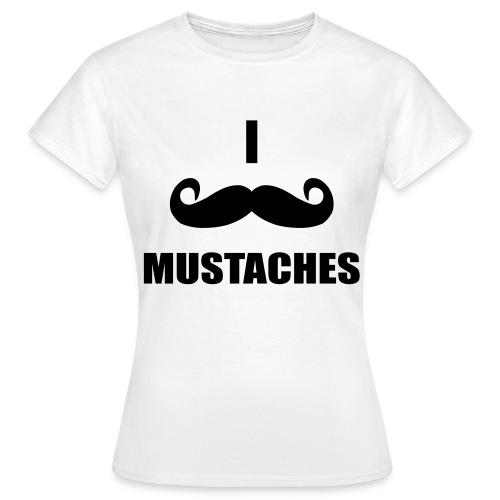 mustache - Women's T-Shirt