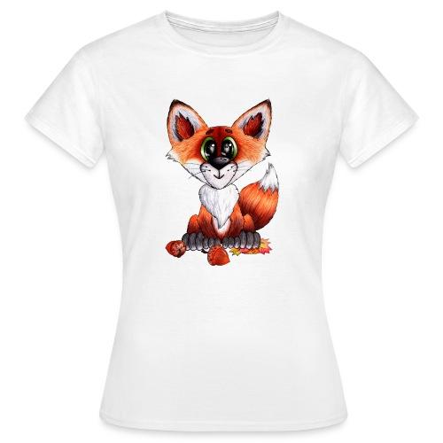 llwynogyn - a little red fox - Naisten t-paita