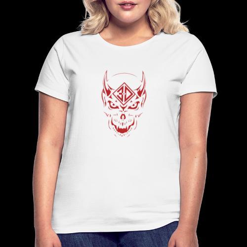 devil skull red - T-shirt Femme