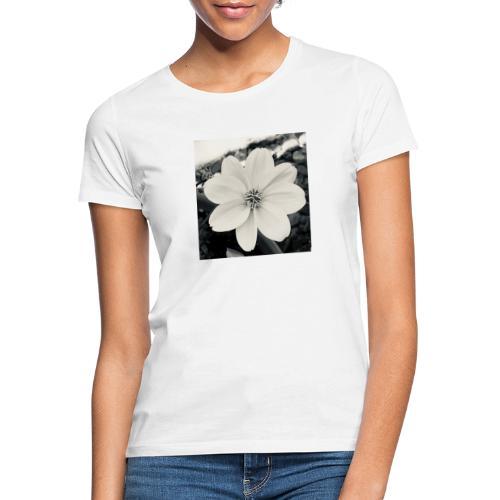 Blume Schwarz Weiß - Frauen T-Shirt