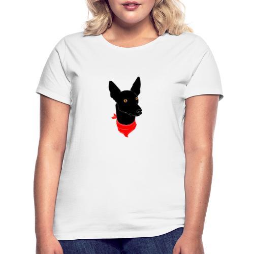 perro negro - Camiseta mujer