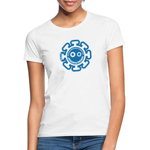 Corona Virus #mequedoencasa blu - Maglietta da donna