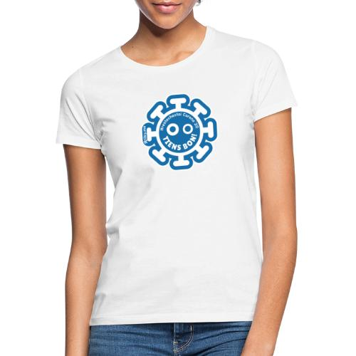 Corona Virus #restecheztoi gray bleu - Women's T-Shirt