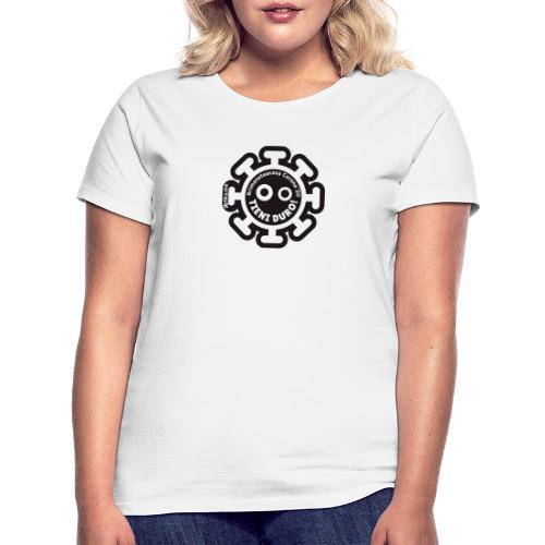 Corona Virus #rimaneteacasa nero - Maglietta da donna