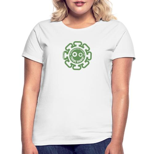 Corona Virus #rimaneteacasa verde - Camiseta mujer