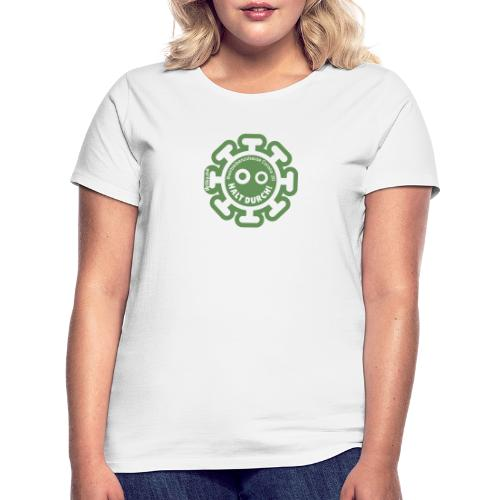 Corona Virus #WirBleibenZuhause grün - Camiseta mujer