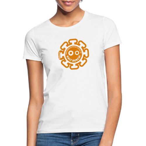 Corona Virus #WirBleibenZuhause arancione - Maglietta da donna