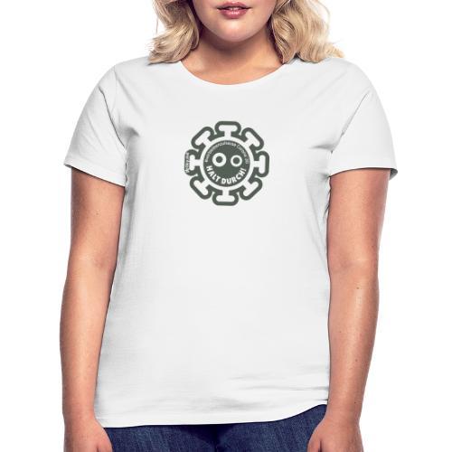 Corona Virus #WirBleibenZuhause grau - Camiseta mujer