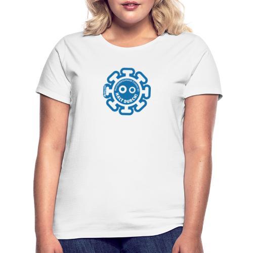 Corona Virus #WirBleibenZuhause blau - Camiseta mujer