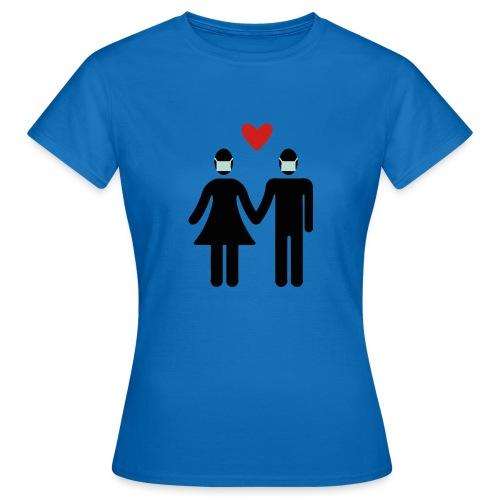 Liebespaar mit Mundschutz - Frauen T-Shirt