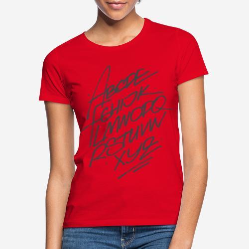 letters font alphabet - Frauen T-Shirt