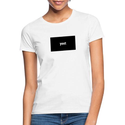Ett snyggt yeet plag - T-shirt dam