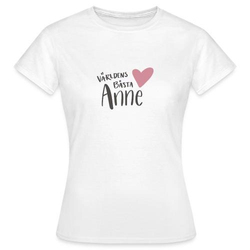 Världens bästa Anne - T-shirt dam