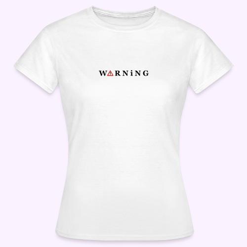 Front Warning White - Camiseta mujer