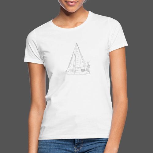 Zeichnung Segelboot Segel hoch - Frauen T-Shirt