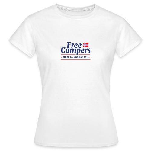 FreeCampersLogo - T-skjorte for kvinner