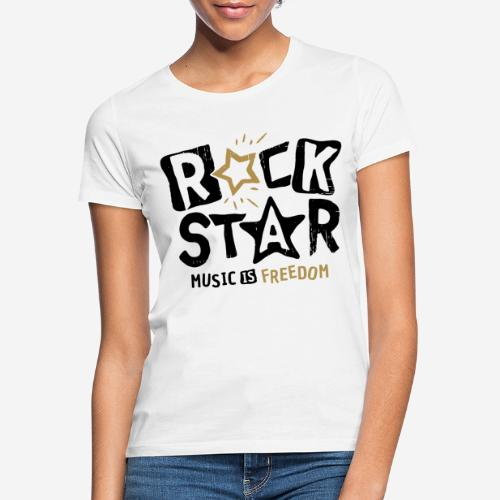 rock star music freedom - Frauen T-Shirt