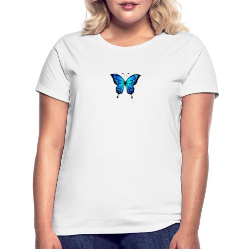 Blå fjäril - T-shirt dam