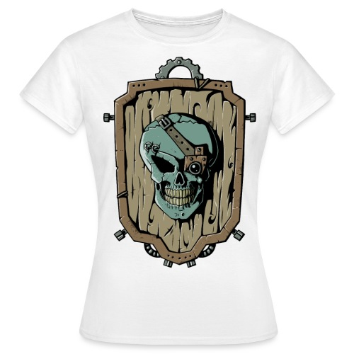 Wooden Skull Shield - Frauen T-Shirt