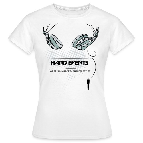 dj t shirt template hardevents png - Frauen T-Shirt